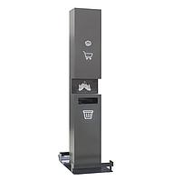 Мобильная стойка для дезинфекции рук ГС19 (Н1950×390×660мм) с контейнером для мусора
