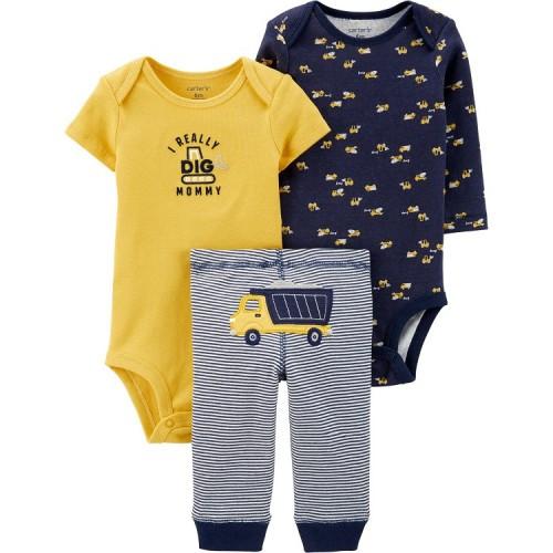 Комплект тройка Картерс Carters для мальчика, желтый с синим 18М(78-83см)