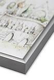 Рамка 25х25 из алюминия - Серебро матовое 6 мм - со стеклом, фото 2