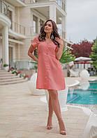 Летнее платье женское Лен Размер 42 44 46 48 50 52 54 56 58 60 Разные цвета