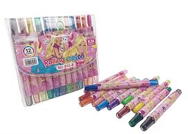 Детские мелки для рисования MK 4392 пастельные ( 4392-B (Barbie))