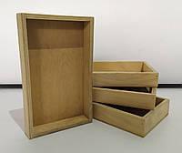 Маленькие деревянные ящики 200x120x25мм. Деревянные коробочки из сосны Б/У