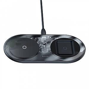 Бездротова зарядка Baseus Simple Wireless Charger 2 в 1 WXJK-01 (Чорне)