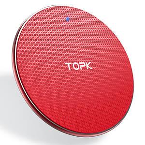 Бездротове зарядний пристрій Topk Wireless Charger B01W (Червоне)