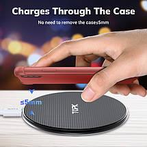 Бездротове зарядний пристрій Topk Wireless Charger B01W (Чорне), фото 3