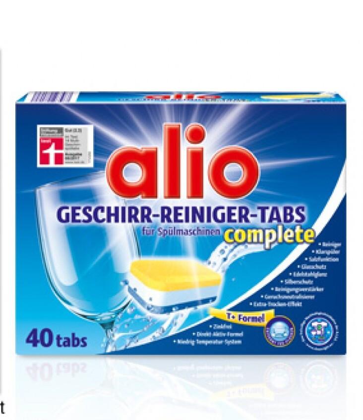 Таблетки для посудомойки Alio Geschirr-reiniger-tabs complete 40 шт