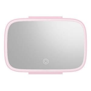 Зеркало на козырек с LED подсветкой Baseus Delicate Queen Car Touch-up CRBZJ01-04 (Розовое)