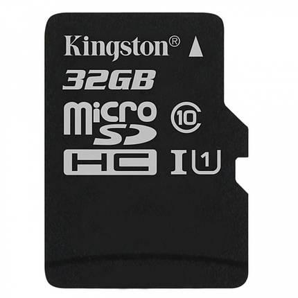 Карта пам'яті Kingston Canvas microSDHC SD adapter SDCS/32GB (32GB, Class10, UHS-I, 80MB/s), фото 2