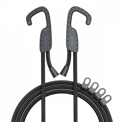 Многоцелевой эластичный шнур с крючками Baseus Multi Purpose Elastic Clothesline ACTLS-01 (Черный), фото 2
