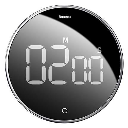 Таймер Baseus Heyo rotation countdown timer з цифровим LED дисплеєм і магнітною основою (ACDJS-01), фото 2