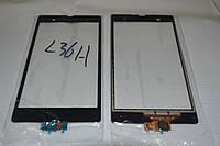 Оригинальный тачскрин / сенсор (сенсорное стекло) Sony Xperia Z C6602 C6603 L36h (черный, Synaptics) + СКОТЧ