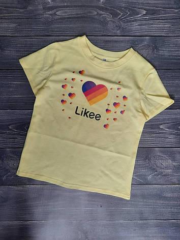 Футболка для девочки Likee р. 128-152 св.желтая, фото 2