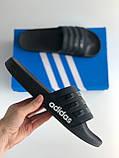 Шльопанці (Капці) Adidas Black, фото 3