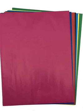 Цветная бумага А4 самоклейка 7л Мандарин
