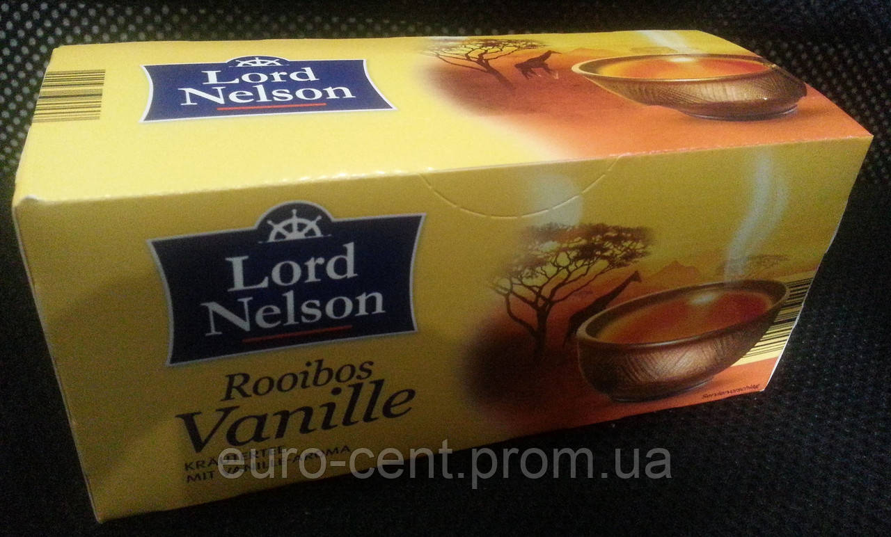 Травяной чай Lord Nelson Rooibos Vanille  в пакетиках