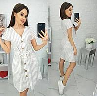 Платье в полоску летнее женское (ПОШТУЧНО) M/42-44