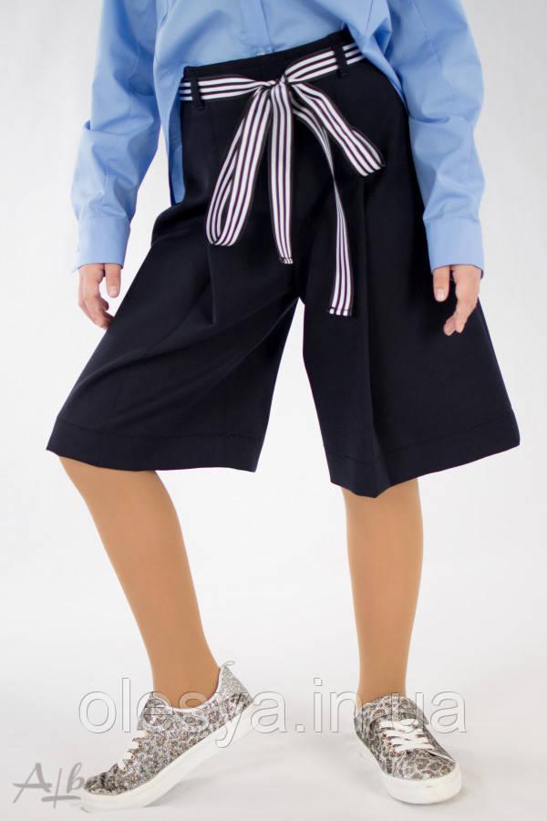 Бермуды с завышенной талией для девочек Albero 4048 размеры 128- 158