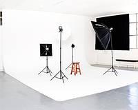 Виниловый фон 3x10 м самый большой студийный белый матовый