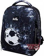 Рюкзак школьный ортопедический ранец DeLune для мальчика Football + сменка + мягкий пенал + часы