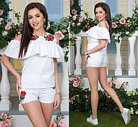 Блуза розы с вышивкой, фото 2