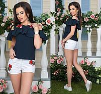 Блуза розы с вышивкой, фото 3