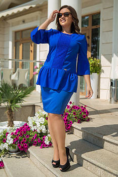 Костюм блуза и юбка батал
