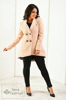 Кашемировое пальто фрак батал