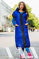 Женская жилетка длинная плащевка на синтепоне, фото 2