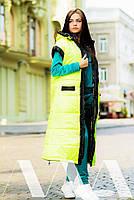 Женская жилетка длинная плащевка на синтепоне, фото 3