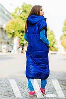 Женская жилетка длинная плащевка на синтепоне, фото 4
