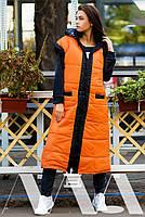 Женская жилетка длинная плащевка на синтепоне, фото 5