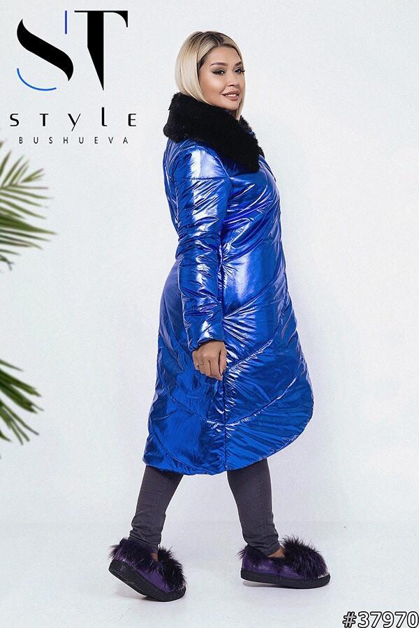 Пальто с мехом батал