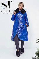 Пальто с мехом батал, фото 3