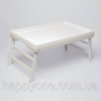 Столик для завтрака без рисунка (белый)