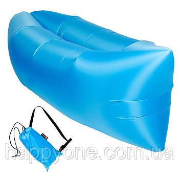 Бескамерный надувной шезлонг-лежак RipStop 2.0 (голубой)