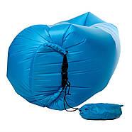 Бескамерный надувной шезлонг-лежак RipStop 2.0 (голубой), фото 4