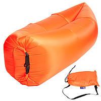 Бескамерный надувной шезлонг-лежак RipStop 2.0 (оранжевый)