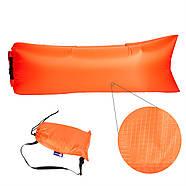 Бескамерный надувной шезлонг-лежак RipStop 2.0 (оранжевый), фото 2