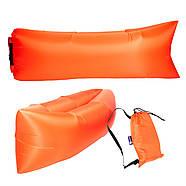 Бескамерный надувной шезлонг-лежак RipStop 2.0 (оранжевый), фото 3