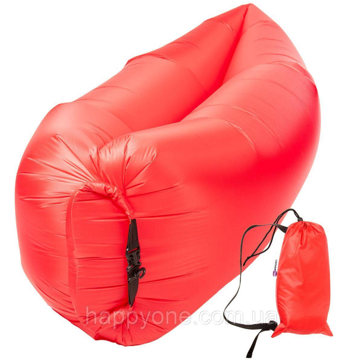 Бескамерный надувной шезлонг-лежак RipStop 2.0 (красный)