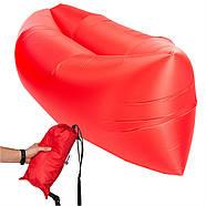 Бескамерный надувной шезлонг-лежак RipStop 2.0 (красный), фото 2