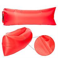Бескамерный надувной шезлонг-лежак RipStop 2.0 (красный), фото 3