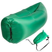 Бескамерный надувной шезлонг-лежак RipStop 2.0 (зеленый)