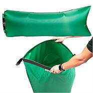 Бескамерный надувной шезлонг-лежак RipStop 2.0 (зеленый), фото 2