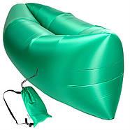 Бескамерный надувной шезлонг-лежак RipStop 2.0 (зеленый), фото 3