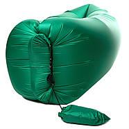 Бескамерный надувной шезлонг-лежак RipStop 2.0 (зеленый), фото 5