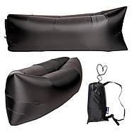 Бескамерный надувной шезлонг-лежак RipStop 2.0 (черный), фото 3