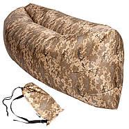 Безкамерний надувний шезлонг-лежак RipStop 2.0 (камуфляж), фото 3