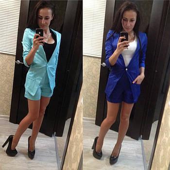Женский костюм пиджак и шорты