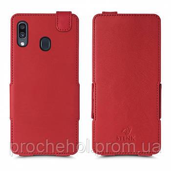 Чехол флип Stenk Prime для Samsung Galaxy A30 Красный